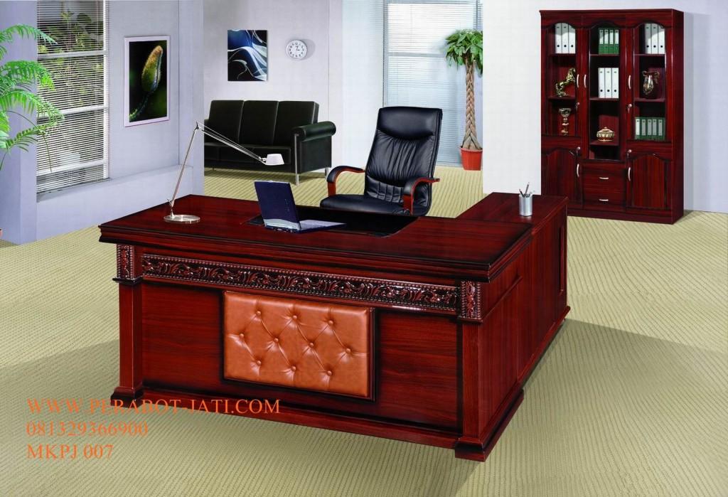 Meja Kantor minimalis ukir jepara