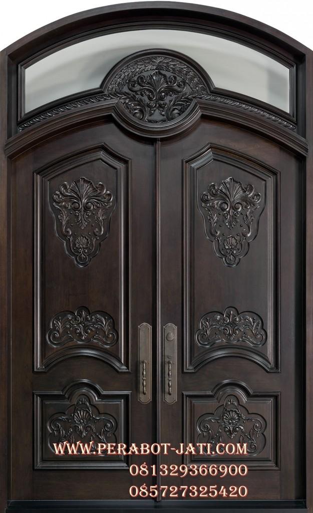 Daun Pintu Dan Kusen Kupu tarung Kayu Ukir Jati Rumah Raffi Nagita