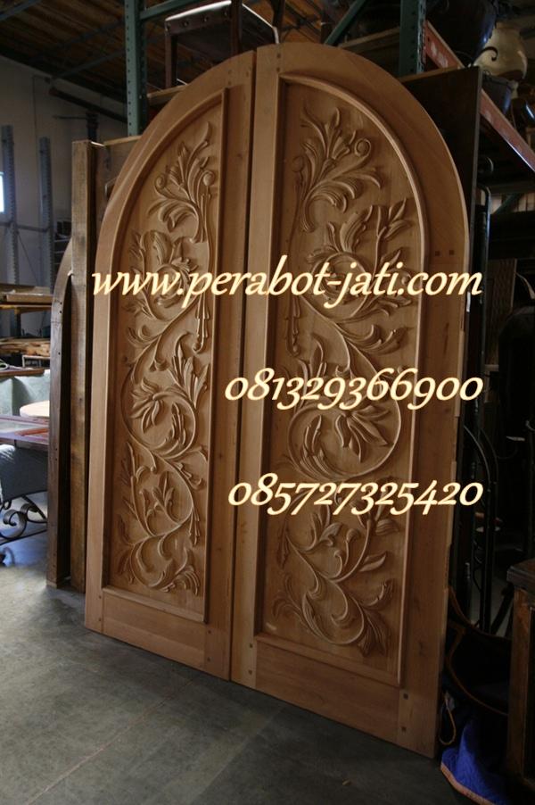 Daun Pintu Rumah Kupu Tarung Ukir Jepara Terbaru