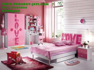 Set Kamar Tidur Anak Perempuan Slorong Barbie