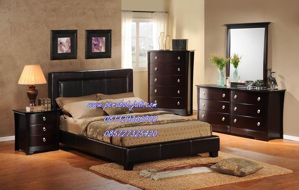 Perabot Set Kamar Tidur Minimalis Kayu Model Terbaru 2015