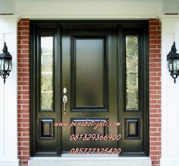 pintu rumah minimalis 2 panel black pearl terbaru jepara
