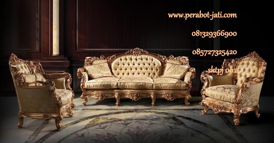 kursi tamu sofa mewah ukir jepara cat gold 2015