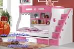 Tempat Tidur Anak Ranjang Susun Warna Pink Terbaru