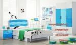 Set Tempat Tidur Anak Perempuan Minimalis Warna Biru Terbaru