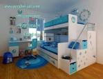 Set Tempat Tidur Anak Tingkat Doraemon Cat Duco