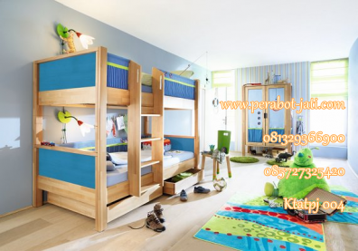 tempat tidur anak tingkat minimalis kayu,simple dan mewah
