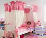 Perabotan Kamar Tidur Anak Putri Model Canopy Jakarta Modern
