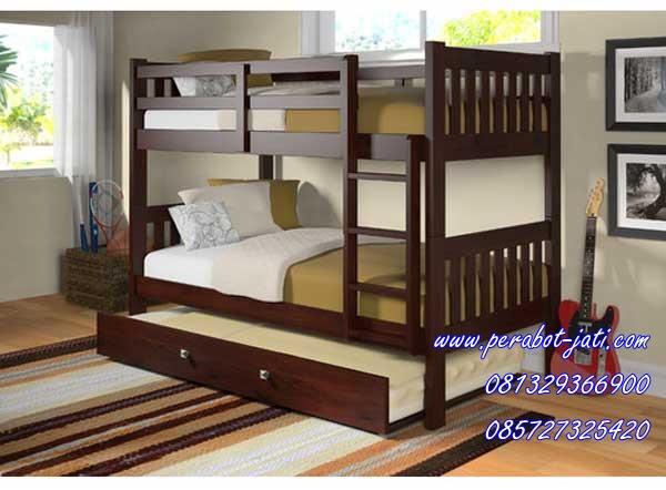 tempat tidur anak tingkat sorong khas jakarta model