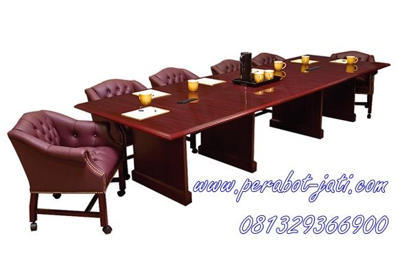 Jual Meja Dan Kursi Meeting Kantor Jati Murah