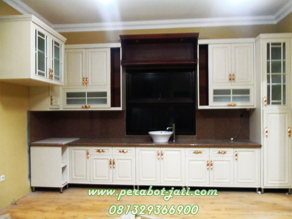 Kitchen set duco mahogany jepara perabot jati jepara for Katalog kitchen set