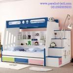 Desain Tempat Tidur Tingkat 3 Laci Untuk Anak