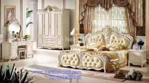 Jual Set Isi Kamar Tidur Ukiran Cat Duco Royal Bedroom