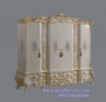 Lemari Pakaian Klasik Ukiran Gold Victorian