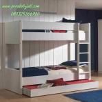 Ranjang Tidur Tingkat Model Sorong Minimalis Duco