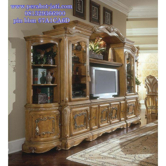 Bufet Tv Mewah Model Klasik Eropa Style