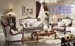 Kursi Sofa Ruang Tamu Mewah Model Klasik Kayu Jati Eropa Style