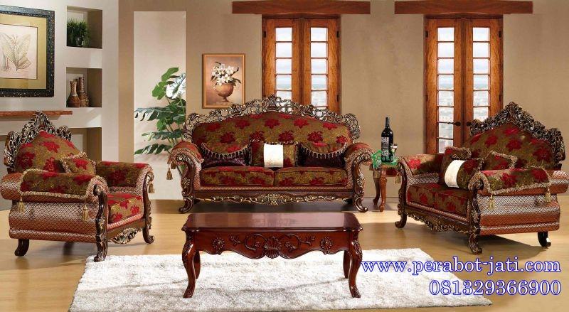 Jual Kursi Sofa Ukir Ruang Tamu Klasik Mewah Arjuna