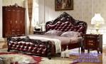 Set Kamar Tidur Mewah Model Klasik Kayu Jati Franch Style