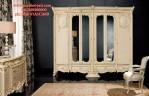 Lemari Wadrobe Mewah Model Klasik Pintu Kaca