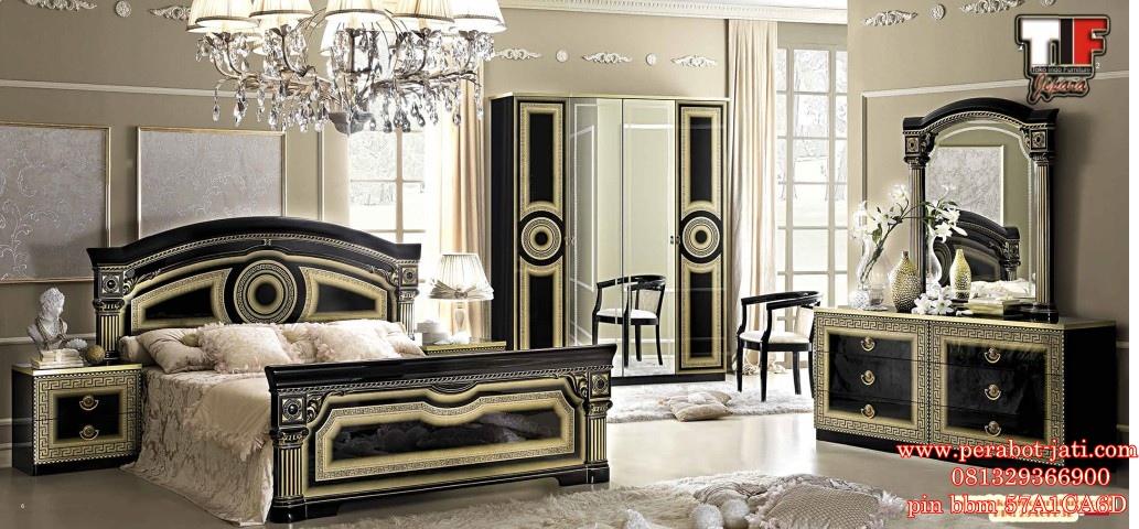 Set Kamar Tidur Mewah Black Gold Terbaru