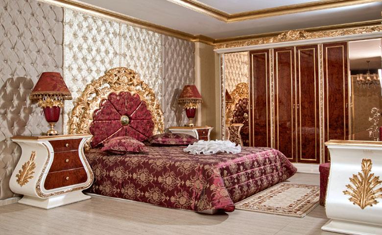 Set Kamar Tidur Mewah Jog Gold Queen