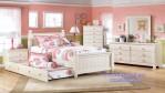 Kamar Tidur Anak Perempuan Pink Dan Putih Model Sorong