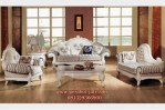 Set Kursi Tamu Mewah Sofa Putih Duco Ambasador