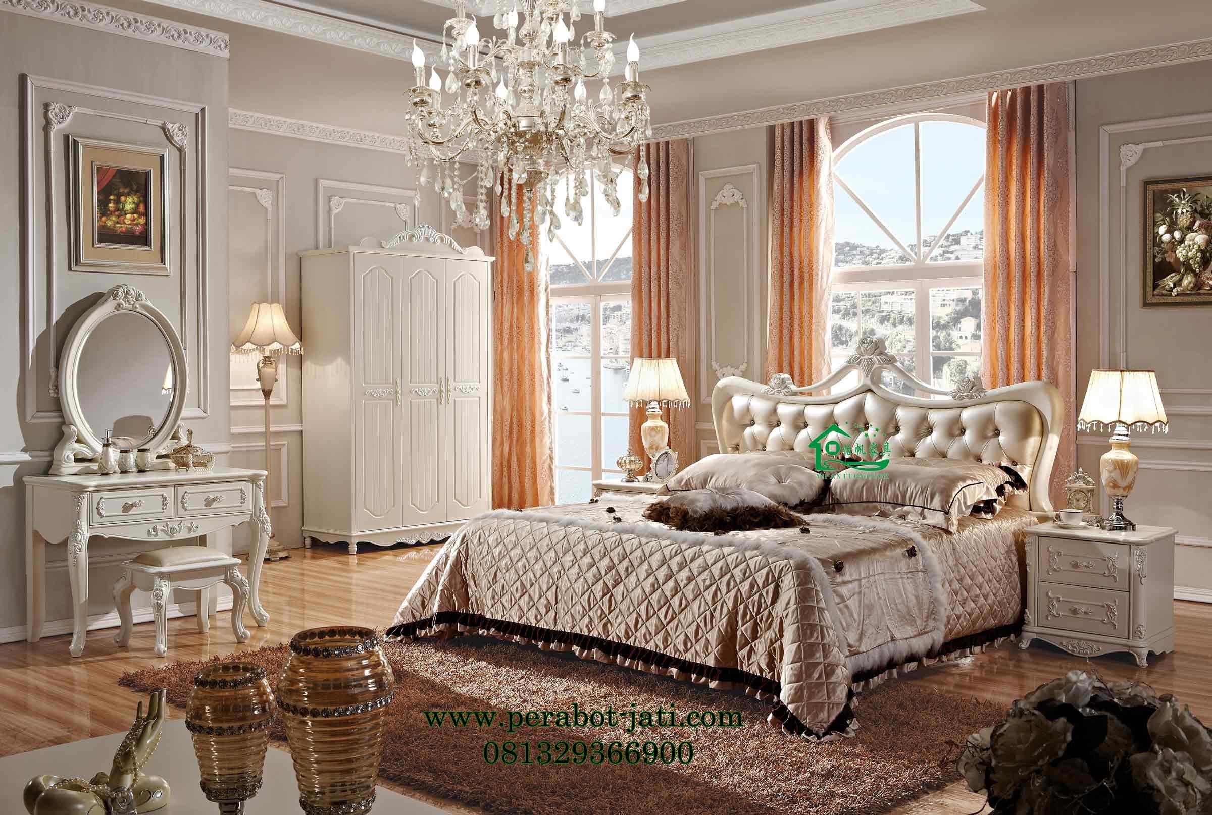 Tempat Tidur Mewah Elegan Ukir Set Bedroom