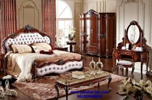 Tempat Tidur Mewah Klasik Jok Gaya Eropa Luxury
