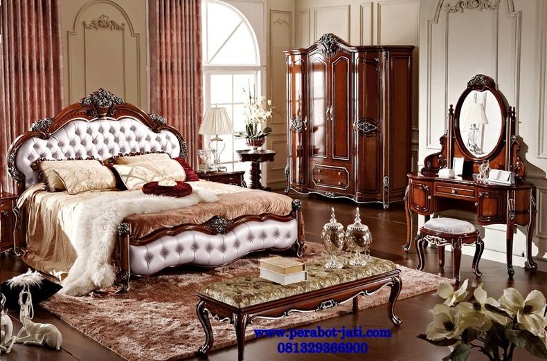 Tempat Tidur Mewah Klasik Jok Gaya Eropa