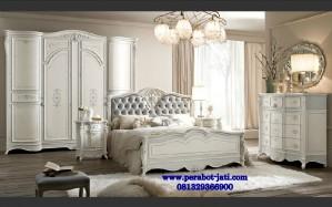Tempat Tidur Utama Mewah Elegan Model Ranjang Pengantin