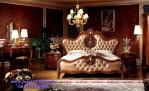Kamar Set Utama Elegan Desain Tempat Tidur Mewah Eropa