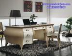 Meja Kerja Kantor Minimalis Mewah Gaya Perancis Elegan
