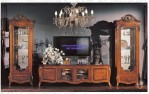 Meja Tv Elegan Jati Eropa Luxury