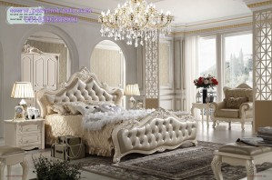Ranjang Tidur Pengantin Mewah Model Set Kamar Utama Eropa