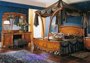Set Kamar Tidur Kanopi Mewah Lengkung Ulir