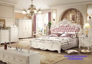 Tempat Tidur Mewah Model Set Kamar Tidur Utama Gaya Eropa