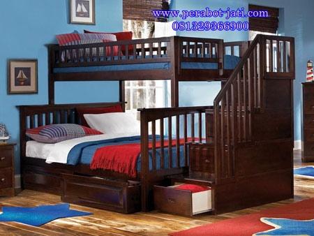 Tempat Tidur Tingkat Jati Aman Buat Anak