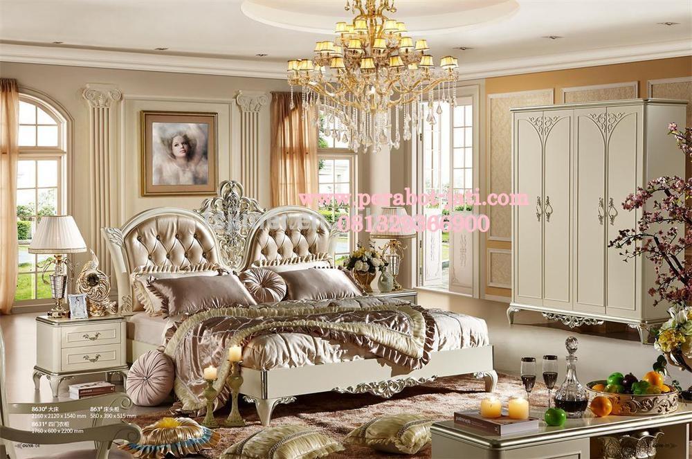 Tempat Tidur Utama Jati Model Pengantin Mewah Dan Elegan
