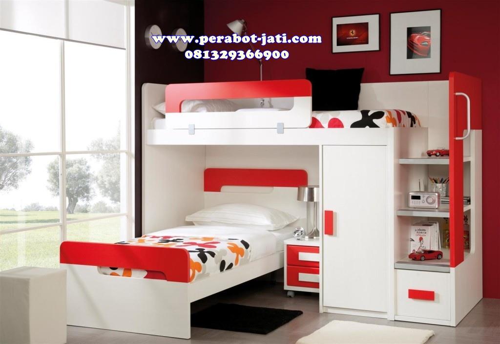 tempat tidur anak minimalis multifungsi desain rumah