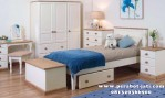Set Kamar Tidur Anak Minimalis Putih Cherty
