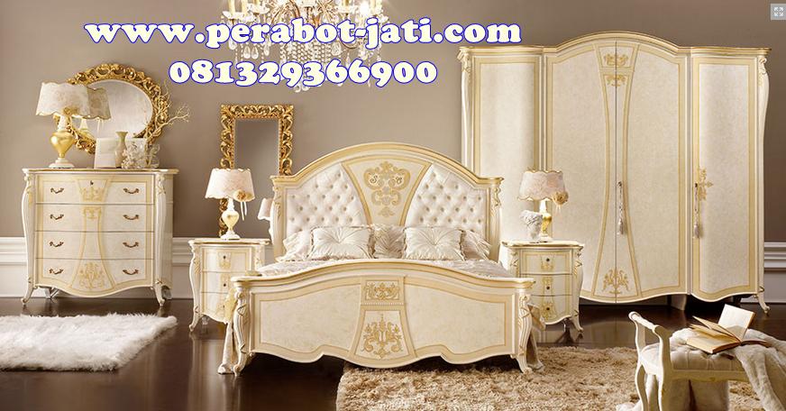 Kamar Set Klasik Putih Mewah Alogio