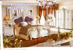 Satu Set Tempat Tidur Mewah Warna Putih Indojava