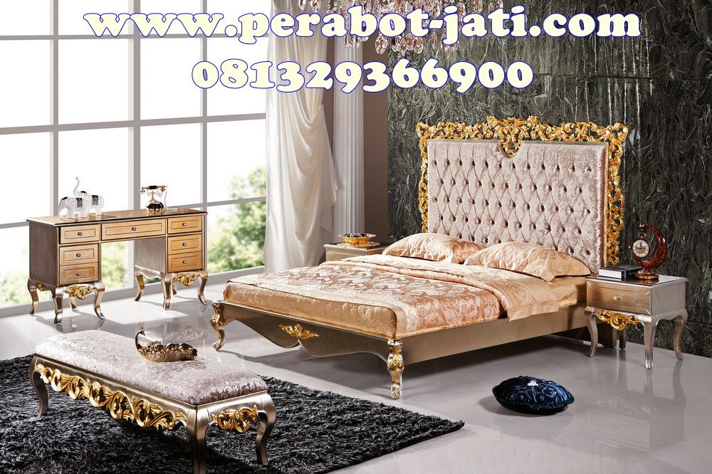 Kamar Set Pengantin Ukir Gold Mewah Klasik