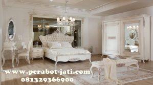 Ranjang Mewah Royal Pengantin Putih Duco Almira