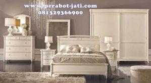 Ranjang Tidur Minimalis Putih Mewah Duco