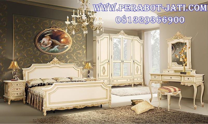 Set Kamar Putih Mewah Klasik Sasha