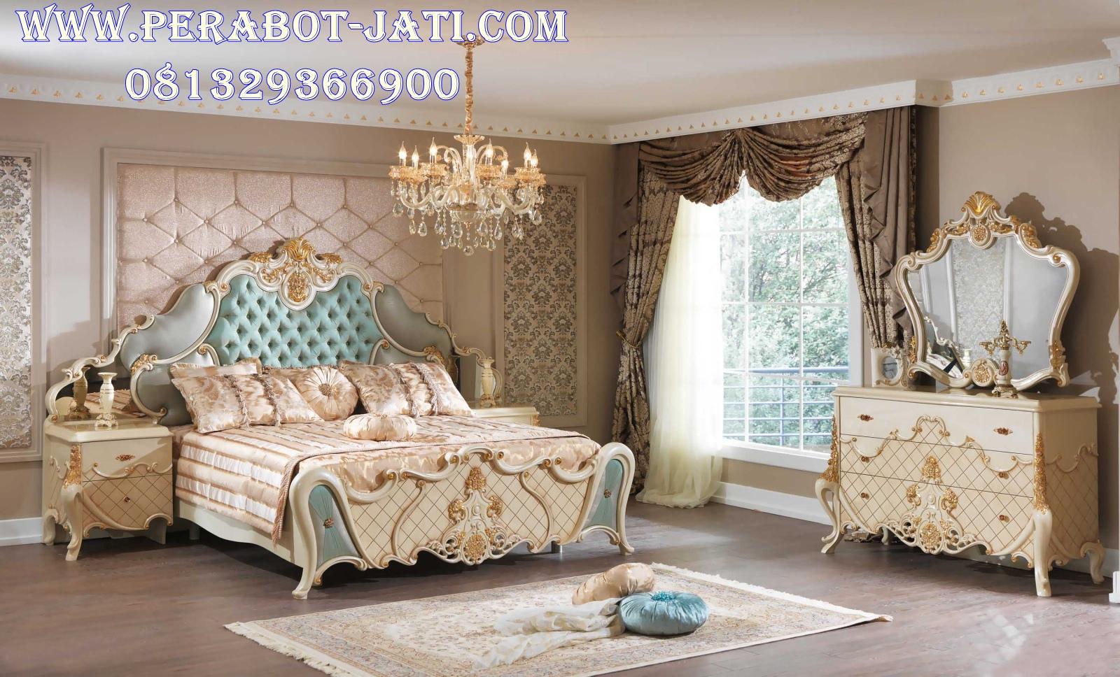 Tempat Tidur Duco Pengantin Putih Mewah Sheren