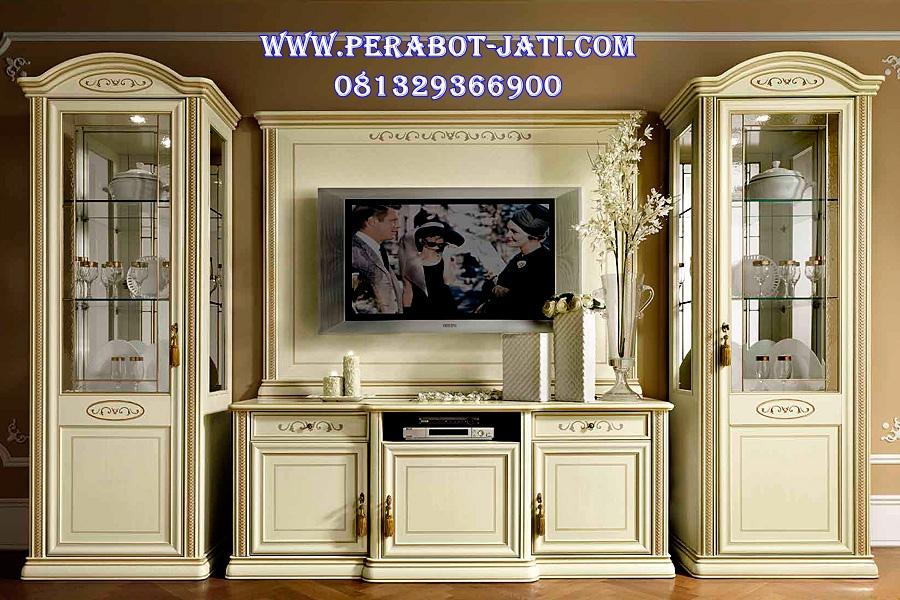 Bufet Tv Klasik Putih Minimalis Zhaza